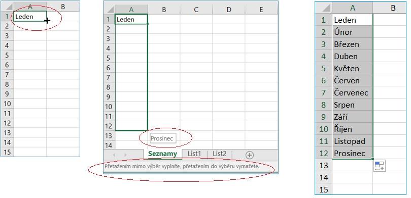 Vlastní seznamy v MS Excel